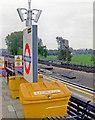 TQ1687 : Northwick Park station, platform furniture, 2006 by Ben Brooksbank