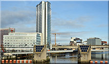 J3474 : City Quays, Belfast - November 2017(2) by Albert Bridge