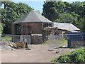 SJ3049 : Bersham ironworks - octagonal building by Stephen Craven