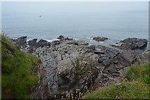 SX4948 : Rocky shoreline by N Chadwick