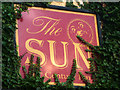 SD3097 : Sign for The Sun, Coniston by Karl and Ali