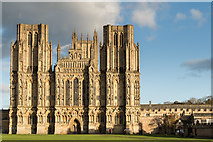 ST5545 : Wells Cathedral - West Front by Ian Knox