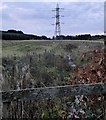 NO8289 : Rumbleyond Burn and overhead power lines by Stanley Howe
