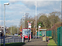 TQ0682 : Brunel University Bus Stop by Des Blenkinsopp