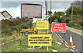 J4376 : Business as usual signs, Craigantlet (November 2017) by Albert Bridge