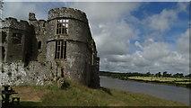SN0403 : Carew Castle & tidal pond Pembrokeshire by Colin Park