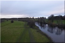 SE4843 : Wharfe from Tadcaster Viaduct by DS Pugh