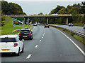 SJ2568 : Bridge over the A55 between Junctions 33A and 33 by David Dixon
