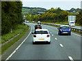 SJ2369 : North Wales Expressway near Flint Mountain by David Dixon