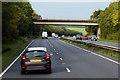SJ1675 : Monastery Road Bridge over the North Wales Expressway near Brynford by David Dixon