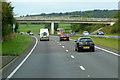 SJ0976 : Bridge over the A55 near Pant-y-dulath by David Dixon