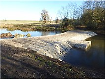 SO8843 : Restored water splash in Croome Park by Philip Halling