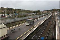 SX9193 : The view north from the north footbridge, Exeter St David's station by Robin Stott