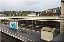 SX9193 : The view northeast from the north footbridge, Exeter St David's station by Robin Stott