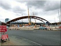 SJ8297 : Ordsall Chord under construction by Gerald England