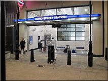 TQ2881 : Marylebone Lane entrance, Bond Street station, with lift by David Hawgood