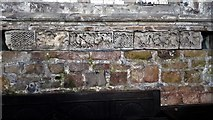 SK4023 : Saxon panel carvings in Breedon church by Chris Brown