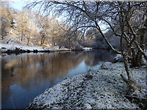 H4772 : Snow along the Camowen River, Mullaghmore by Kenneth  Allen