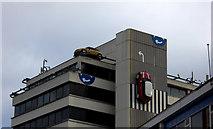 SU1484 : Cars on the building, Fleet Street,  Swindon by Robert Eva