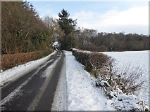 H4277 : Snow, Connaghty Road by Kenneth  Allen