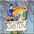TL9499 : Griston village sign by Adrian S Pye