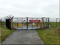 SJ7981 : Manchester Airport Crash Gate #10 by Graham Hogg