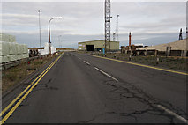 TA2710 : Dock road towards Grimsby Dock Tower by Ian S