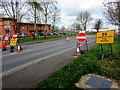 ST3037 : Road Closed, East Quay, Bridgwater by Jaggery