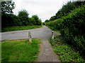 ST5394 : Concrete posts at the edge of Mopla Road, Tutshill by Jaggery