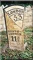 SP8546 : Old Milepost by A Rosevear & J Higgins