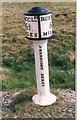 SJ9972 : Old Milepost by J Higgins