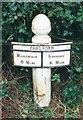 SJ8174 : Old Milepost by J Higgins
