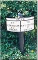 SJ7381 : Old Milepost by J Higgins