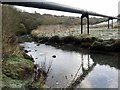NZ3376 : Pipe Line over Seaton Burn by Andrew Curtis