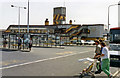 SU6200 : Portsmouth Harbour, station exterior on Gunwharf Quay, 1992 by Ben Brooksbank