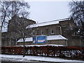 TQ3195 : St. Peter's Church, Grange Park, in the snow by Paul Bryan
