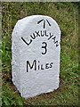 SX0554 : Old Milestone by Ian Thompson