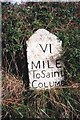 SW9671 : Old Milestone by the A39, north east of Hal's Grave by Ian Thompson