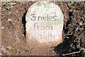 SX3860 : Old Milestone by the A38, east of Notter Bridge by Peter Clements