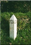 SX3358 : Old Milepost by the A374, Trerulefoot by Ian Thompson