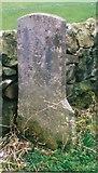 SK3155 : Old Milestone by the B5035, Holly Bush Farm by J Higgins