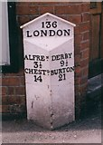 SK3950 : Old Milepost by the B6179 in Ripley by A Rosevear & J Higgins