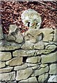 NZ1647 : Old Milestone by the B6296, Cadger Bank, west of Lanchester by IA Davison