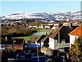ST2492 : Snowy Twmbarlwm viewed from Malpas, Newport by Jaggery