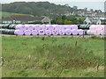 NX0367 : Jolly hay bales. Kirkcolm by Humphrey Bolton