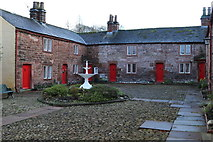 NY6820 : The neat and tidy  Alms houses of St Anne's Hospital by Des Colhoun