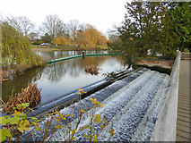 TL0549 : Weir on Great Ouse, Bedford by Robin Webster