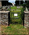 ST6979 : 700th Anniversary gate at the southern entrance to St James the Great churchyard, Westerleigh by Jaggery