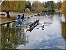 TL0549 : Rowing, Great Ouse, Bedford by Robin Webster