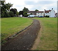 ST6783 : Path through the village green, Iron Acton by Jaggery